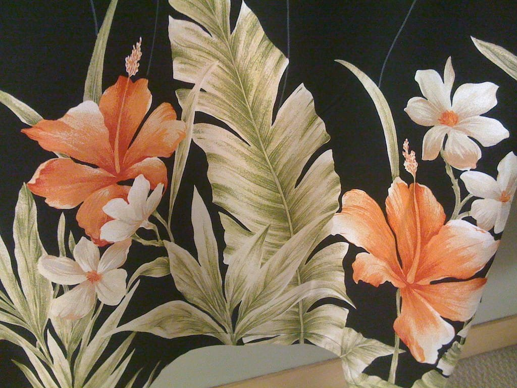 Floral Designs on Material