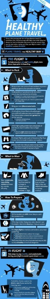 Stay healthy during your travels - infographic